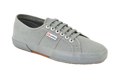 Superga 2750 Cotu Classic superga unisex 2750 cotu classic grey canvas trainers tennis shoes rubber sole ebay