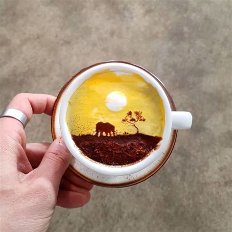 Interior Painting For Home by Barista From Korea Who Creates Art On Cups Of Coffee