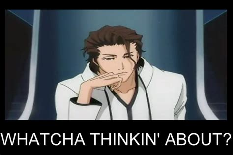 Whatcha Thinkin About Meme - villians hogyokou aizen vs sharin rine tobi