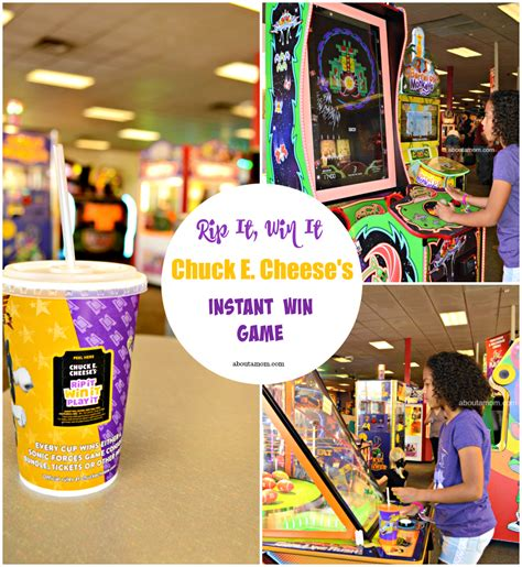 About Com Instant Win - everyone s a winner with chuck e cheese s rip it win it instant win game about a mom