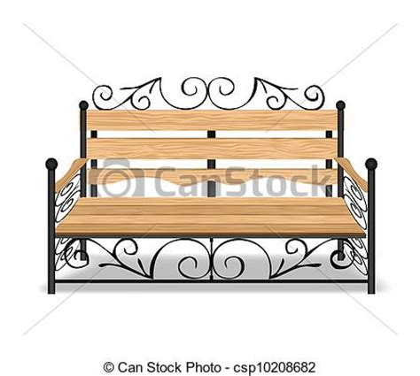 Park Bench Icon Vector Of Classical Park Bench Vector Illustration