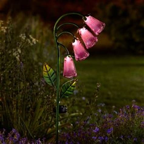glass flower solar lights solar lighting solar garden lights garden home shop