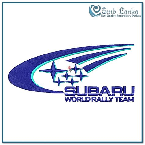 Subaru Rally Logo by Subaru World Rally Logo Embroidery Design Emblanka