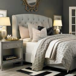 Bedroom Design Grey Bed Grey Nightstand Transitional Bedroom