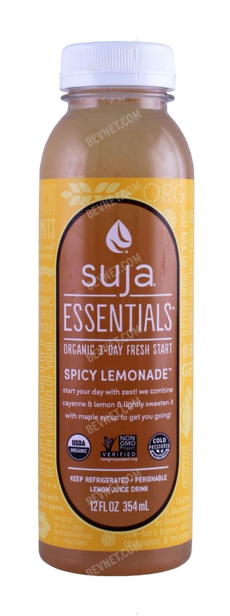 Suja Essentials Detox spicy lemonade suja essentials bevnet product
