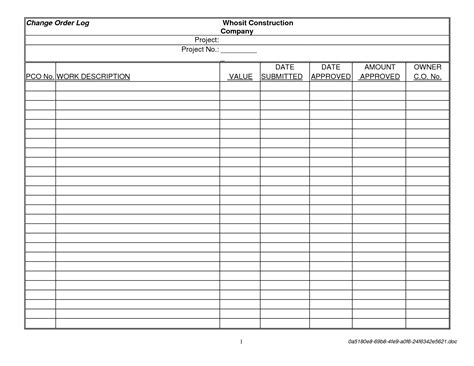 construction variation form template contractor template microsoft word studio