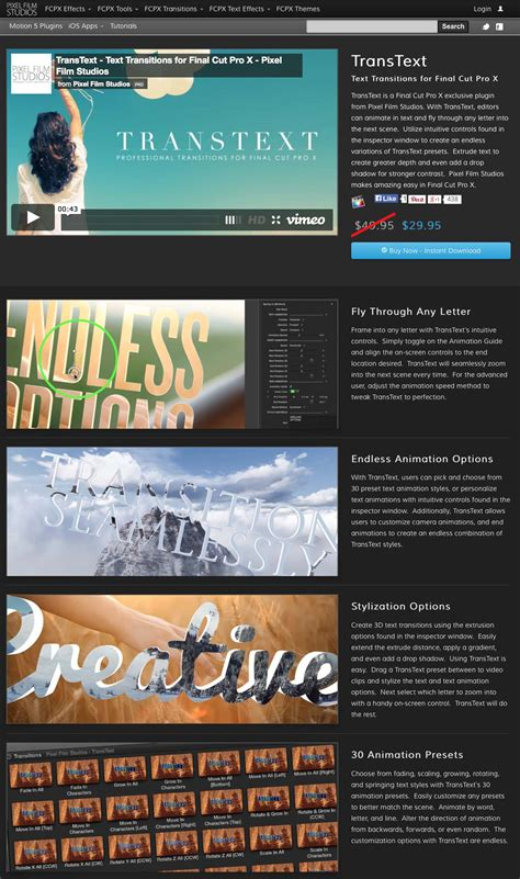 final cut pro text pixel film studios releases the transtext plugin for final