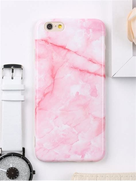 Pink Cell Phone Pajamas Pillow And Blanket For Sleepovers by Marble Pattern Cell Phone For Iphone Pink Tech