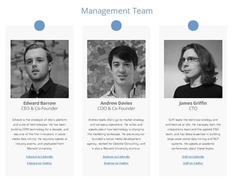 7 Team Bio Design At Idioplatform Ideas For Bios Pinterest Template Biography Website Templates