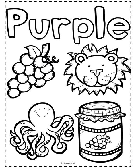 purple coloring pages preschool purple coloring pages for preschool coloring pages