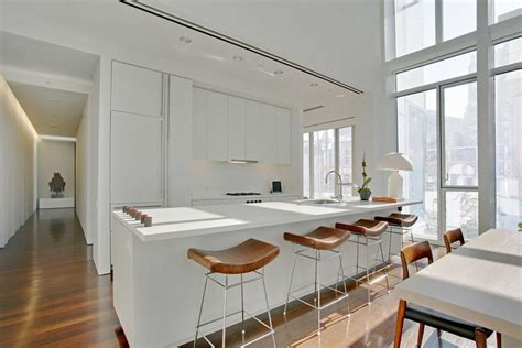 contemporary kitchen with flat panel cabinets by david 30 beautiful white kitchens design ideas designing idea