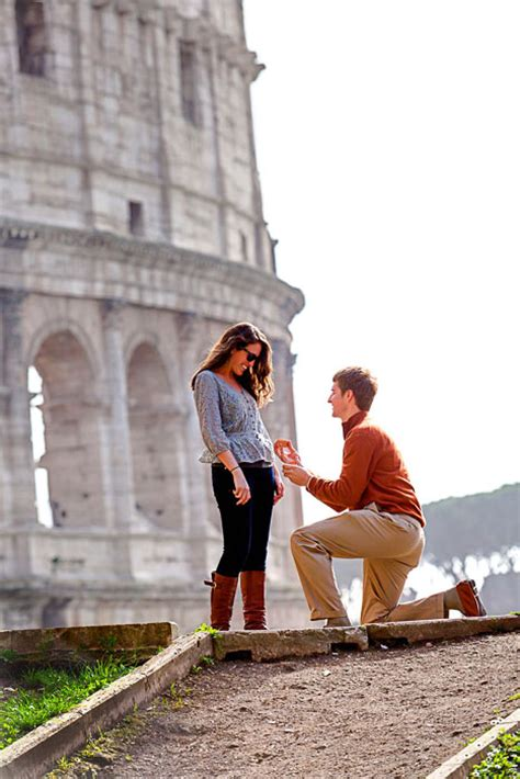 surprise wedding proposal photographer in rome italy