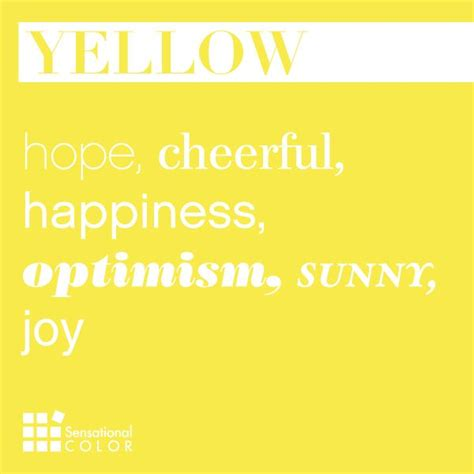 words to describe color words that describe yellow sensational color
