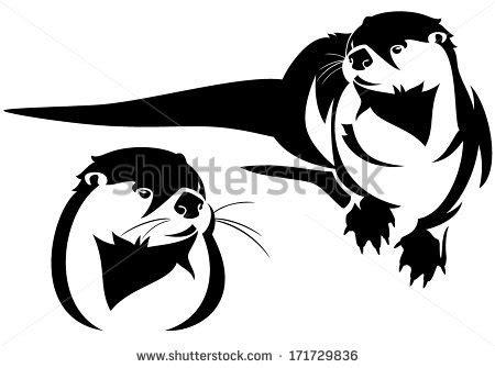 otter clip art black and white clipart panda free
