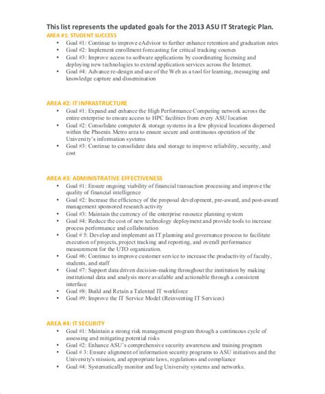 technology strategic plan template 49 exles of strategic plans