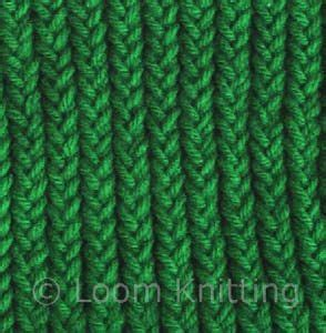 types of loom knitting stitches one three one new three loops tighter