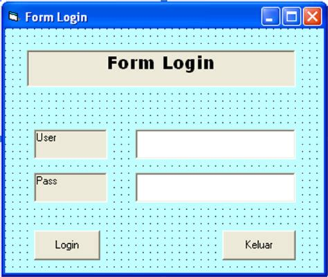 membuat form login vba excel tutorial ilmu komputer membuat form login dengan vb