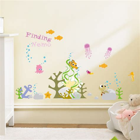 Finding Nemo Kids Wall Stickers Nursery Decor Removable Removable Wall Decals Nursery
