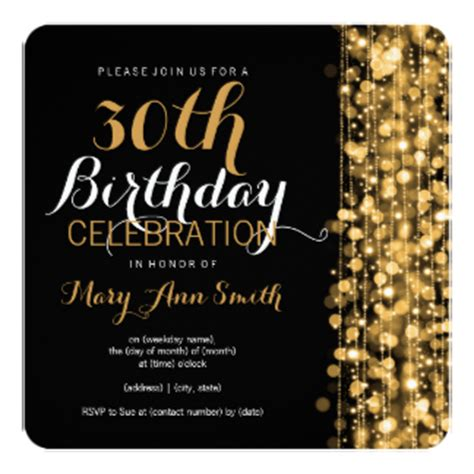 template for 30th birthday invitations 30th birthday invitations announcements zazzle