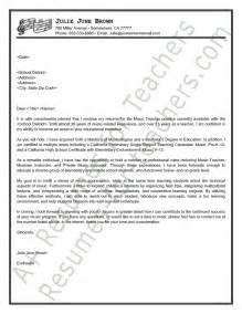 Cover Letter Example Of Teacher Sample Music Teacher Cover Letter