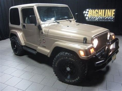 car manuals free online 2000 jeep wrangler on board diagnostic system sell used 2000 jeep wrangler sahara 4x4 4 0l 5 speed manual 30 tires only 75k miles in