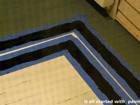 Rug Painted On Floor by Using Porch Floor Paint To Create A Painted Rug And
