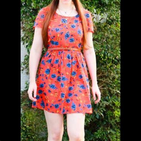 Trend Alert Floral Shirtdresses by Navy Trend Alert Navy Orange Floral Dress From