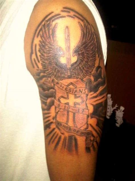 Upper Arm Armor Tattoo