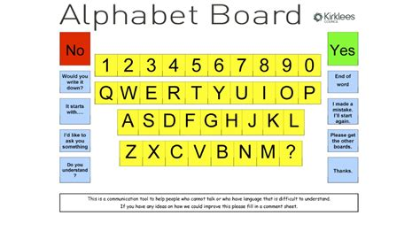Printable Alphabet Communication Board | 7 best images of printable alphabet board alphabet