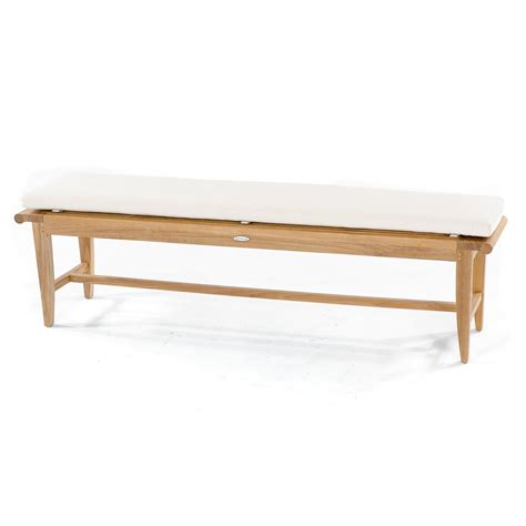 6 bench cushion sunbrella 6 ft bench cushion westminster teak outdoor