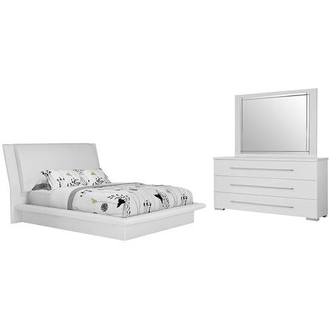 dimora bedroom set white dimora white upholsterd platform bedroom