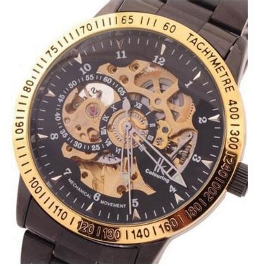 Oulm Jam Tangan Analog Hp3688 Blackblack ik mechanical analog quartz stainless steel band