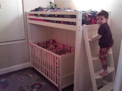 bunk bed with crib on bottom 25 best ideas about toddler bunk beds on