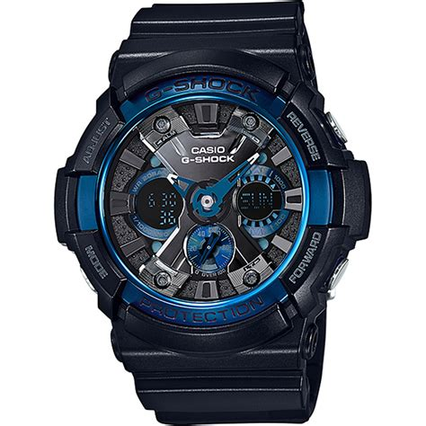 G Shock Time Blue by G Shock Ga 200cb 1aer Blue