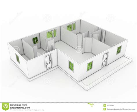 drawing with 3d house stock illustration image of 3d drawing of a building 3 stock photo image 24521680