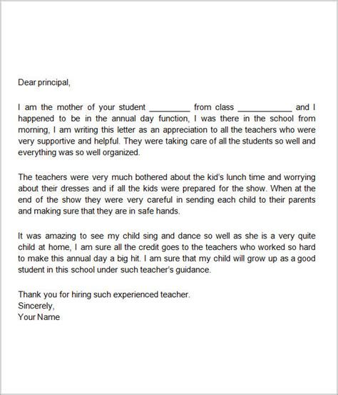 appreciation letter sle for teachers employee appreciation note letter of appreciation sle