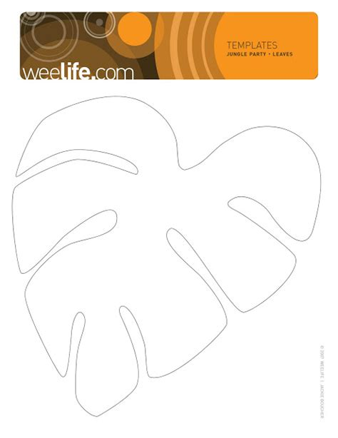 jungle leaf templates to cut out weelife leafy templates
