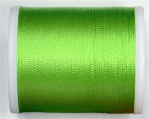 Medira Green madeira rayon 40 1000m machine embroidery thread 1248 lime green
