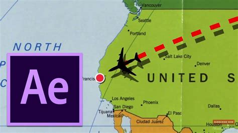 Adobe After Effects Tutorial Flight Path Animation Template On The Map Youtube Map Animation After Effects Template