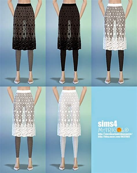 H Line Lace Skirt lace h line skirt with at marigold 187 sims 4 updates