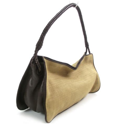 Bottega Veneta Cotton Canvas Shoulder Bag by Bottega Veneta Canvas Shoulder Bag 18175