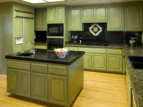 Green Cabinets In Kitchen Distressed Kitchen Cabinets Pictures Options Tips
