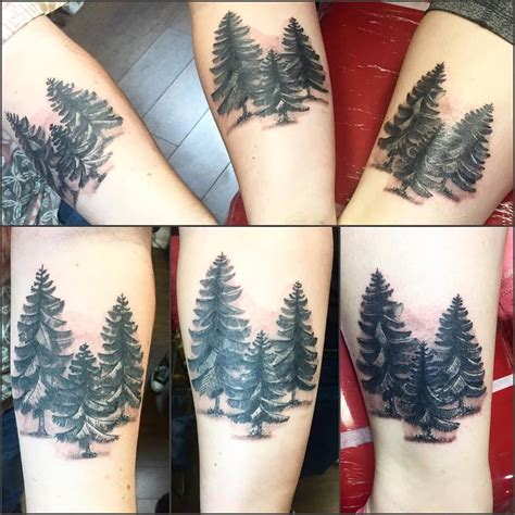 evergreen tree tattoo 59 cool sibling ideas to express your sibling