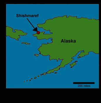 shishmaref alaska map global warming endangers an alaskan eskimo