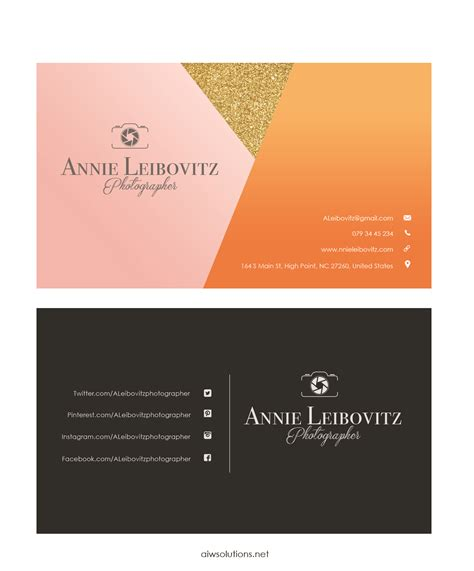 plain business card template ai premade business card template name card template
