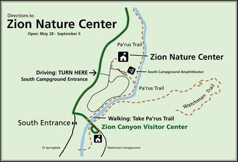 maps zion national park  national park service