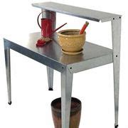 galvanized potting bench galvanized steel potting bench from jackson perkins