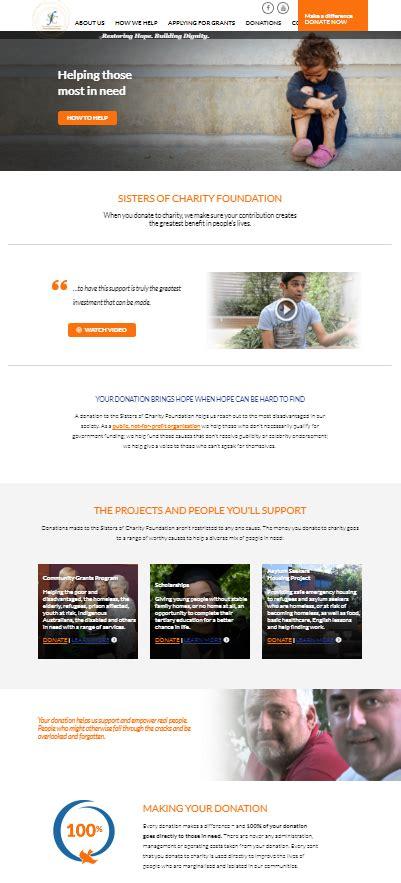 sister website sisters of charity foundation copybreak copywriting