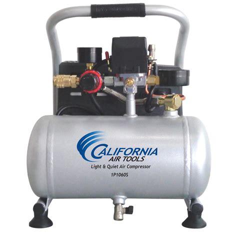 california air tools 4610ac ultra and free 1 0 hp 4 6 gal aluminum tank
