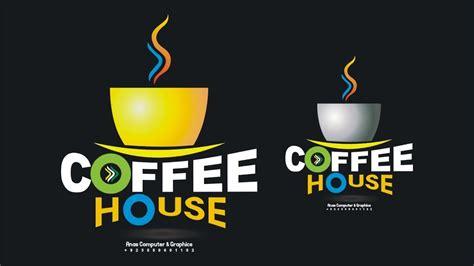 tutorial house logo coreldraw tutorial logo design coffee house youtube